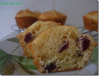 muffins arandanos corte
