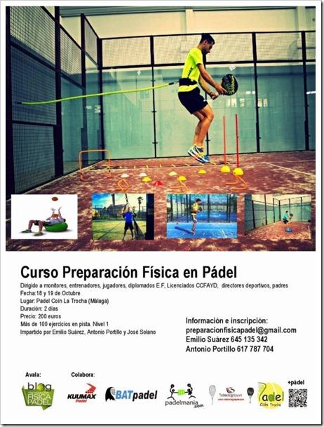 1er Curso Preparación Física en Pádel, 18 y 19 Octubre de 2014 en Málaga.