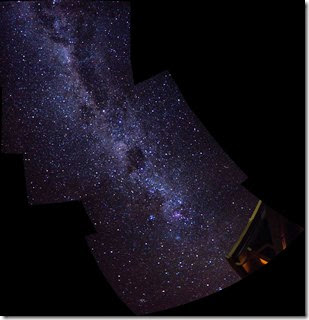 milky way panio looking south
