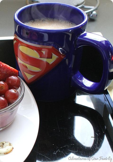 valentine's date superman mug
