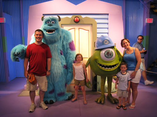 Wykles with Sulley and Mike.