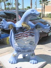 Florida Venice decorated turtle front rwb presidents 5
