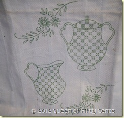 Stamped linen towel 1