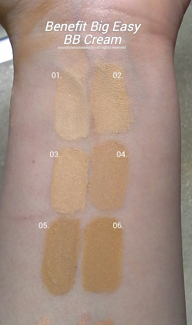 Benefit Bid Easy BB Cream SPF 35 Review & Swatches of Shades