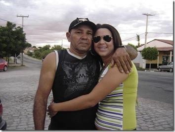 Edival com a filha