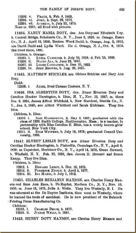 Doty-Doten Family In America-The Family of Joseph Doty209