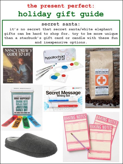 2011.12.06 - Holiday Gift Guide - Secret Santa