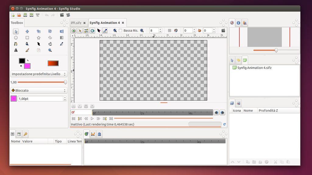 Synfig Studio 0.65.0 in Ubuntu