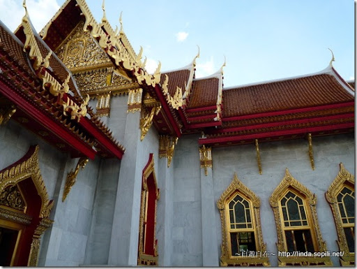 泰國曼谷-大理石寺一角