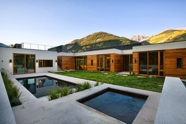 Casa minimalista lineal studio b architects aspen for Casa minimalista arquitectura