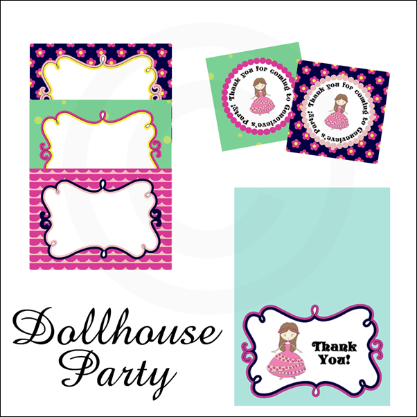 Dollhouse Party Printables
