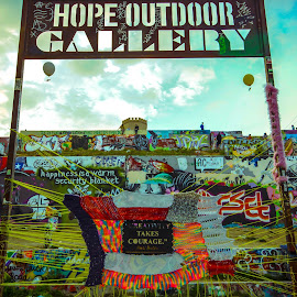 Hope Outdoor Gallery by Kevin Smith - City,  Street & Park  Street Scenes ( street art graffiti wall outdoor )