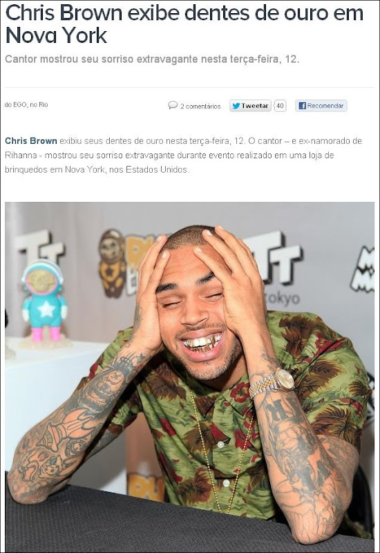 omg dentes de ouro chris brown