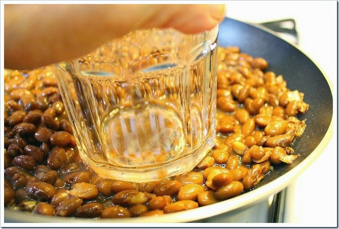 Fried Pinto Beans | Use a heavy glass to mash the beans