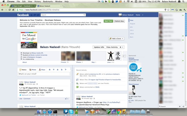 New Facebook Timeline Screenshot