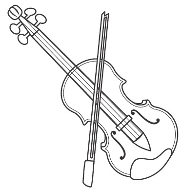 Violin Coloring Pages on happy halloween comments