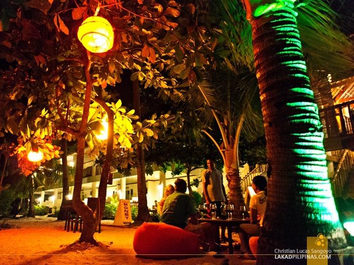 Diners Enjoying the Breeze at Ocean Vida Restaurant in Malapascua Island