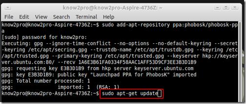 การติดตั้งโปรแกรมบน Ubuntu ด้วยคำสั่งใน Terminal