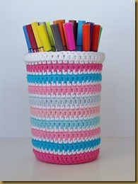 Crochet marker storage