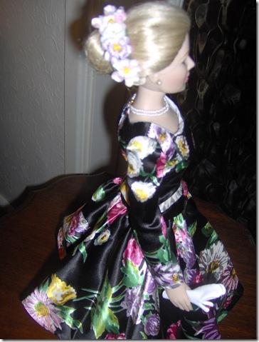 Grace Kelly Black Print Dress 12