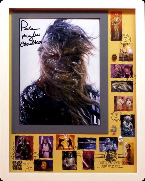 cool star wars photos peter mayhew chewbacca stamps