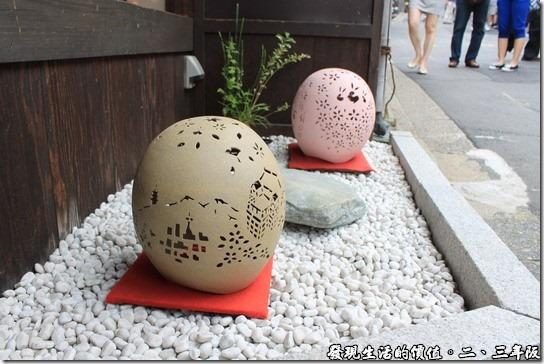 清水寺-二三年坂,這個是蛋殼雕刻嗎?晚上要是打起燈來應該會更漂亮。