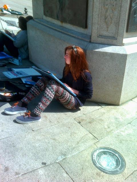 Pintando en la calle