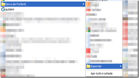 Preferiti Chrome importati su Firefox