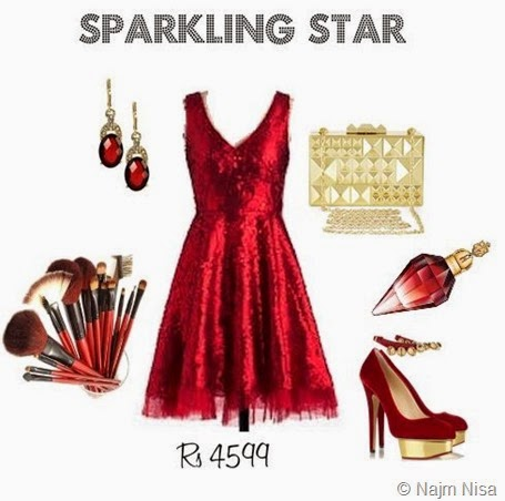 sparkling star sequinned look
