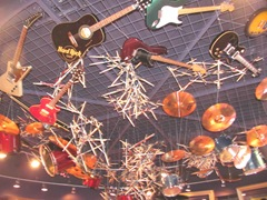 Florida 2013 Universal Hard Rock Cafe ceiling