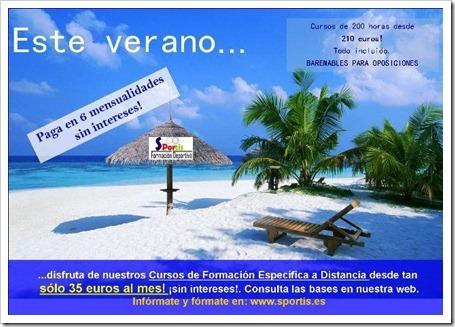 Sportis Formación Deportiva lanza su campaña de verano 2011 con interesantes ofertas.