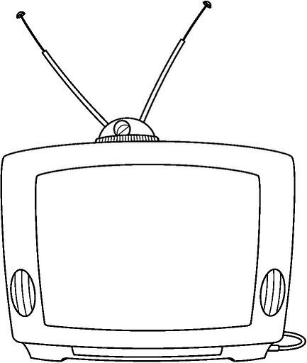 DIBUJOS DE TELEVISORES PARA COLOREAR – Dibujos para colorear