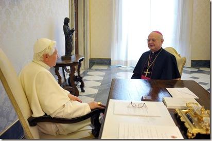 Benedict XVI Robert Zollitsch Pope Meets Senior 8JMepdVtwaSl