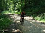 Na Jaworzynę podjeżdżamy z grubsza czerwonym szlakiem, trochę stokówką na przypał, a na koniec jeszcze kawałek zielonym.