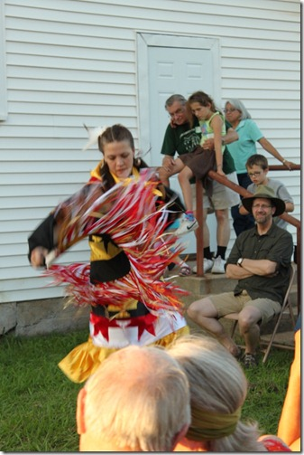 Pawnee Woman Dances at Great Plains Yearly Meeting