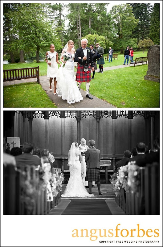 bride arrives at dunkeld cathedralScottish wedding Photographer dunkeld_004