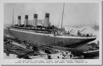 Titanic, postcard