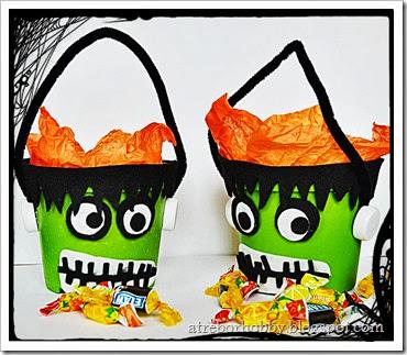 Halloween Frankestein porta caramelle