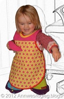 Tutorial barneforkle med ribb rundt halsen