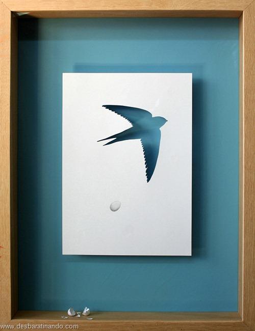 obras de arte em papel 3D origami Peter Callesen desbaratinando (6)