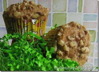 Carrot-raisin spice muffins, sugar free muffins, sugar free carrot cake, healthy muffins,