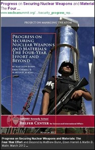 PELINDABA PROGRESS SECURING NUCLEAR WEAPONS HARVARD KENNEDY SCHOOL BELFER CENTRE FOR SCIENCE JUNE 2012