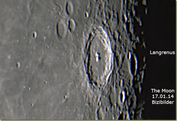17 January 2014 Moon Langrenus