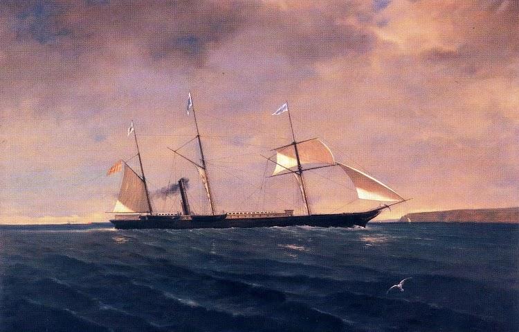 Óleo de S. Farriols del GENERAL ARMERO. Museu Maritim de Barcelona. Extraído del libro HISTORIA DE LA MARINA MERCANTE ASTURIANA.JPG