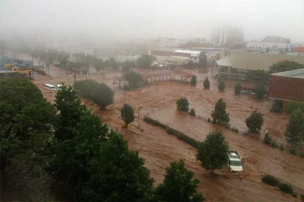 Flooding in Queensland, Australia, 29 January 2013. Photo: 3aw.com.au