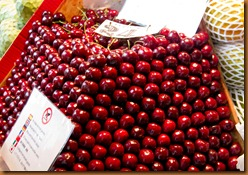 Madrid mercato cherries