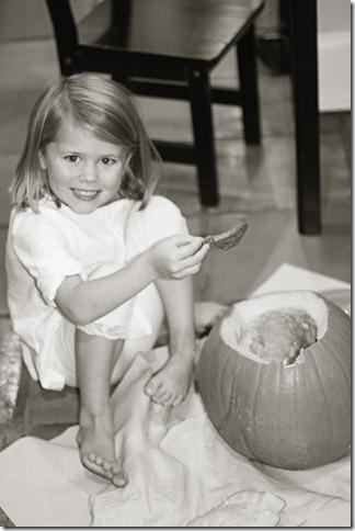 Hannah BW pumpkin 2