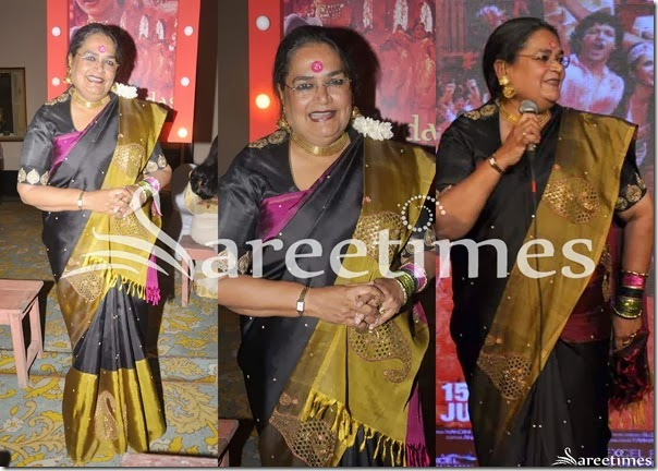 Usha_Uthup_Black_Embrodiery_Silk_Saree