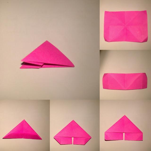 ... sesuai bentuk lipatan.setelah itu bentuk segitiga seperti pada gambar