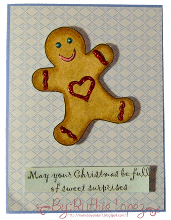 Gingerbread man card - Platypus Creek Digitals - hombre galleta tarjeta